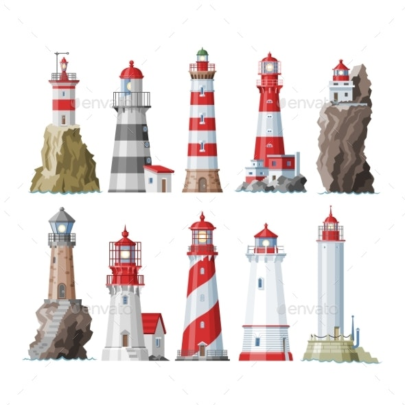 Lighthouse Vectors - Buildings Objects