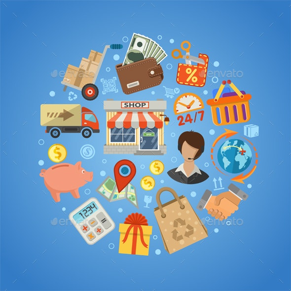 Shopping and Delivery Concept - Retail Commercial / Shopping