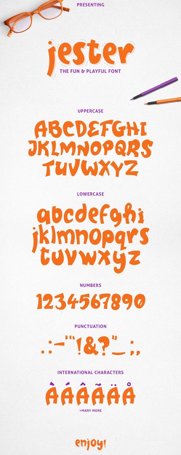 Jester Display Font - Comic Decorative