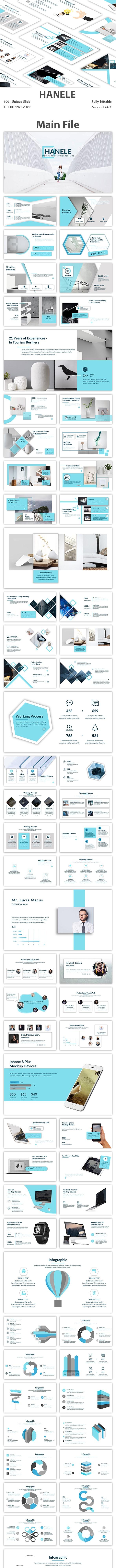 Hanele Creative PowePoint Template - Creative Keynote Templates