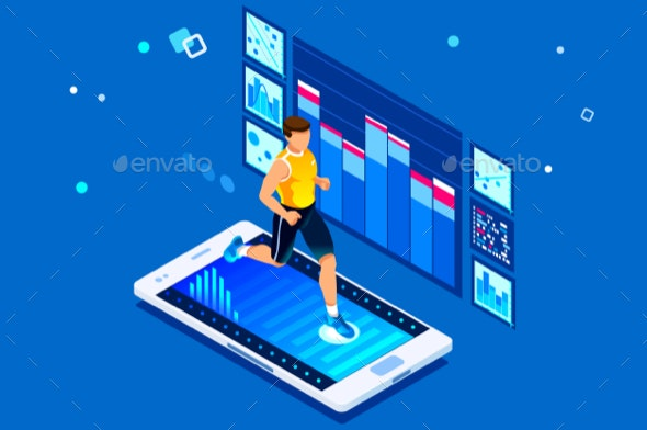 Running Workout for Wellness - Sports/Activity Conceptual