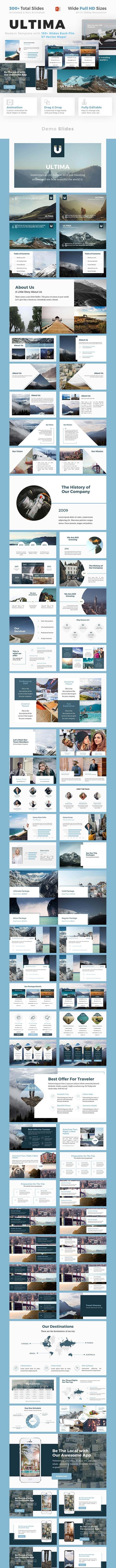 Modern Travel Presentation - Ultima - PowerPoint Templates Presentation Templates