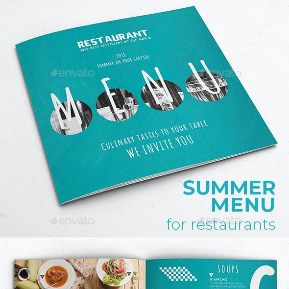 Summer Brochure Menu