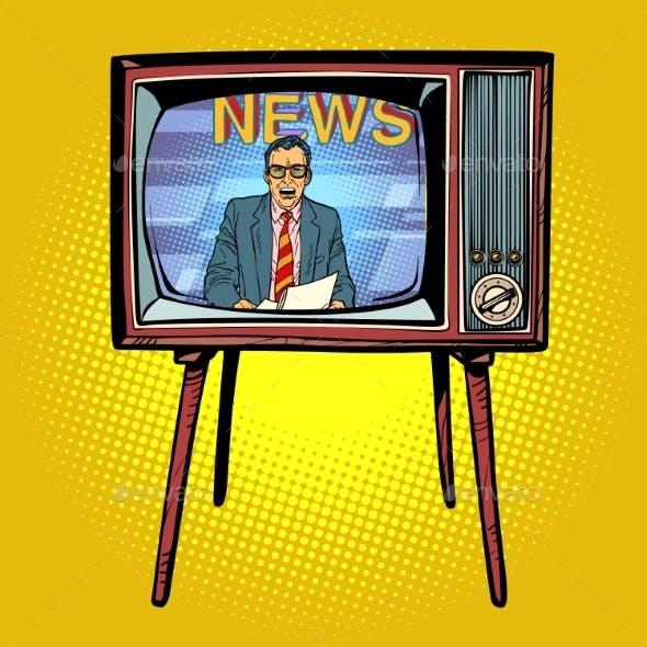 Political News Presenter on TV