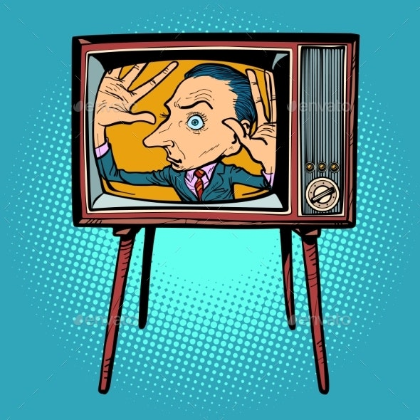 Man Inside TV - Retro Technology