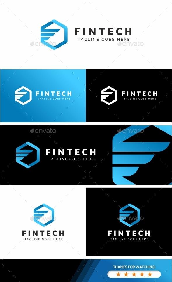 Fintech F Letter Logo - Letters Logo Templates