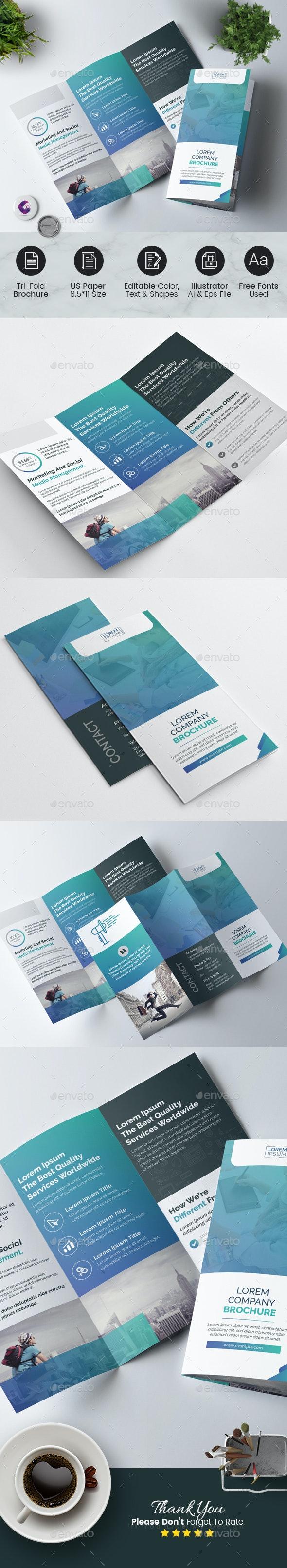 Tri Fold Brochure Template - Corporate Brochures