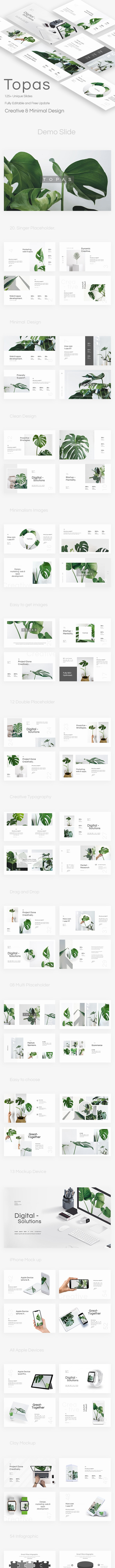 Topas Minimal Project Powerpoint Template - Creative PowerPoint Templates
