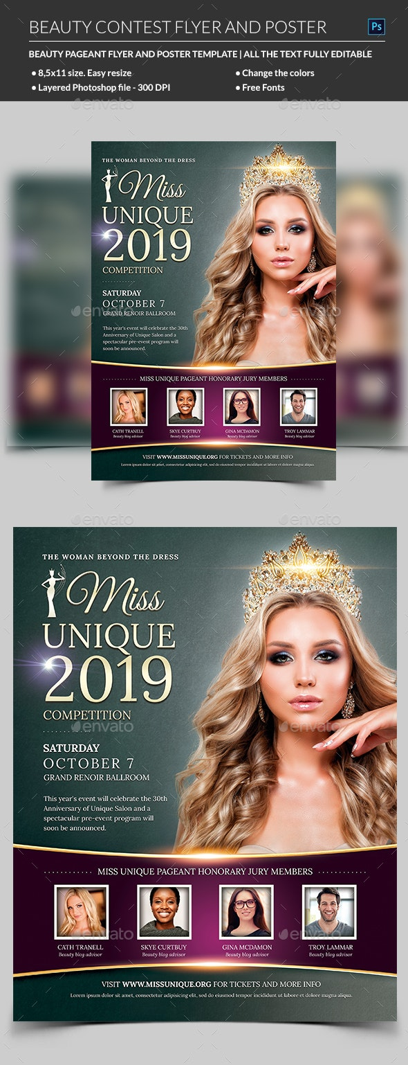 Beauty Contest Flyer Template - Miscellaneous Events
