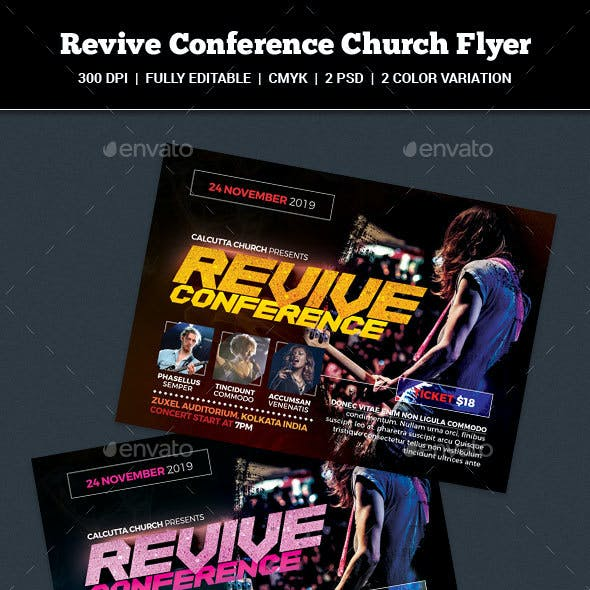 Revive Conference Church Flyer