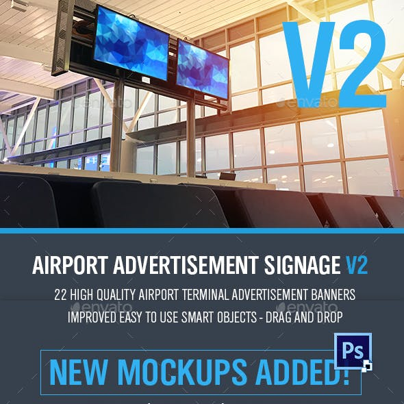 Airport Signage/Billboard Pack - 22 PSD Files