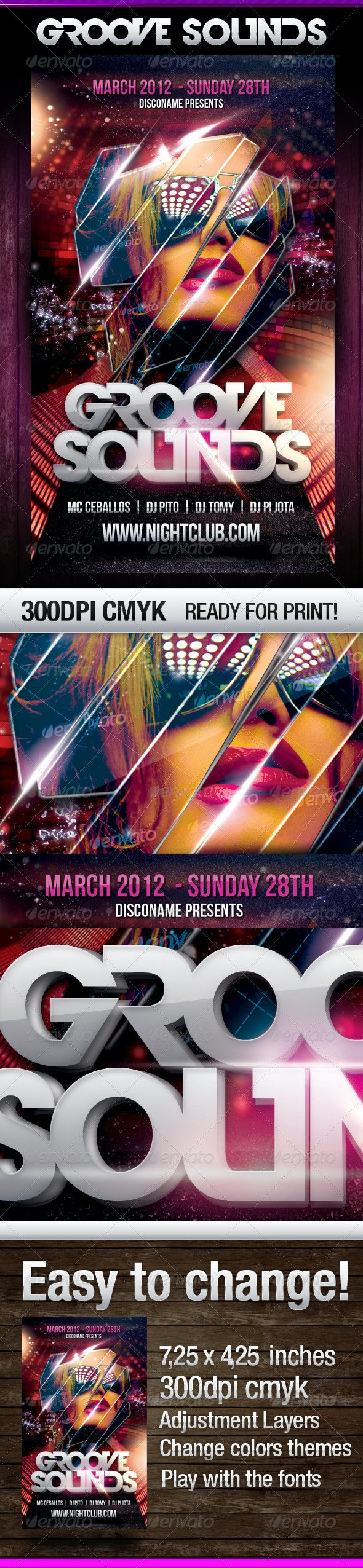 Groove Sounds - Flyers Print Templates