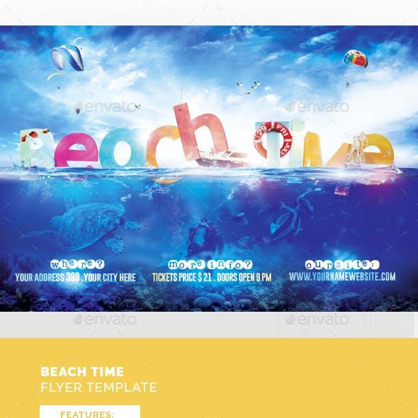 Beach Time Flyer Template