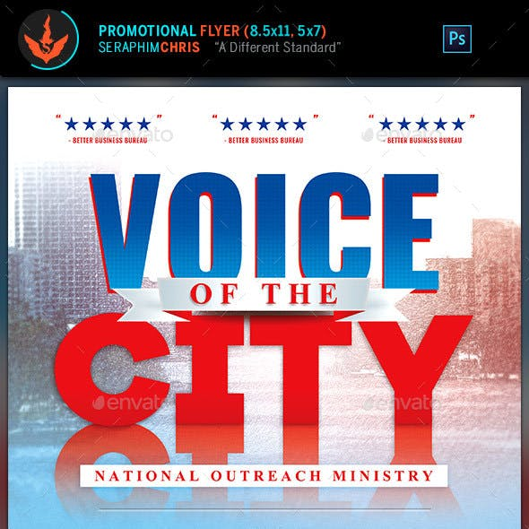 Voice of the City Charity Flyer Template