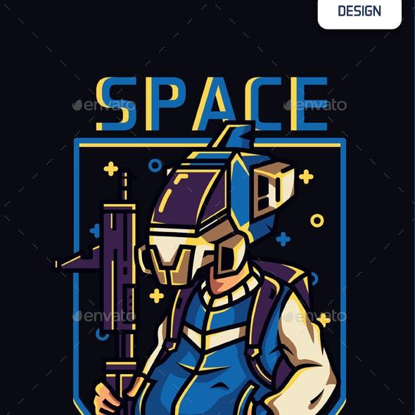 Space Troop T-shirt Design