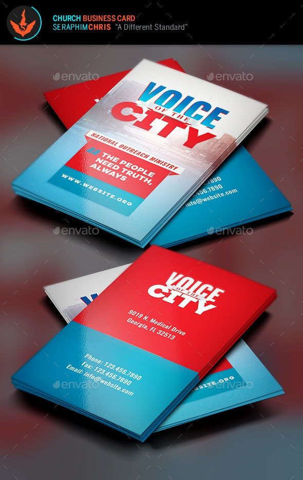 Voice of the City Charity Business Card Template - Corporate Business Cards