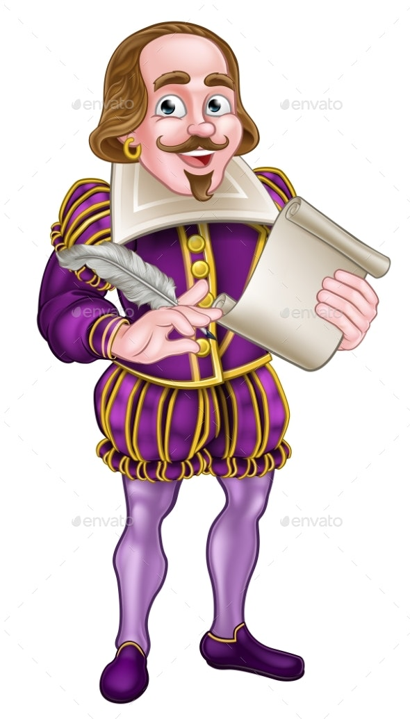 Shakespeare Cartoon Character - People Characters
