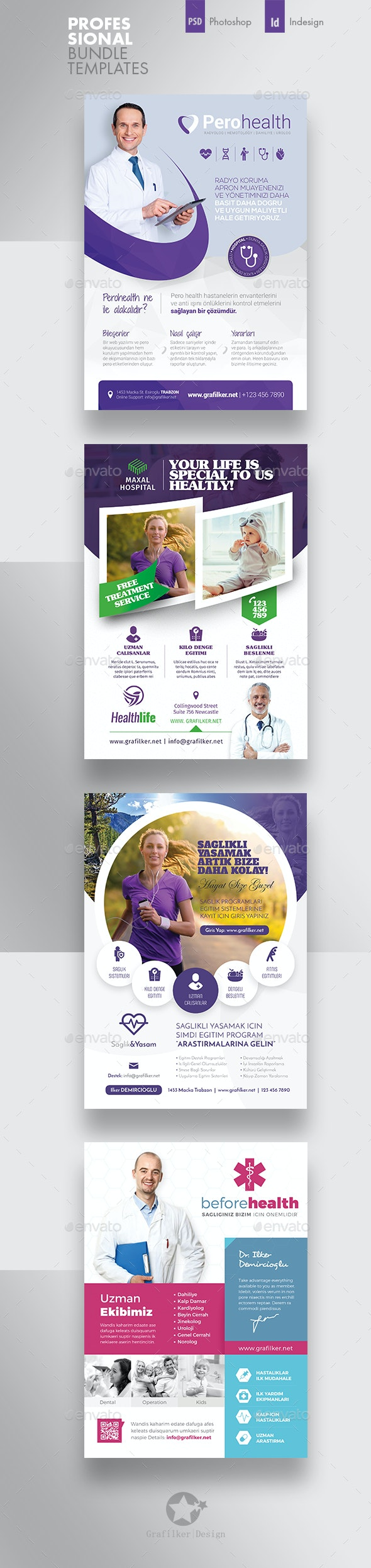Health Flyer Bundle Templates - Corporate Flyers