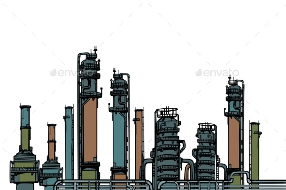 Chemical Plant Oil Refining - Industries Business