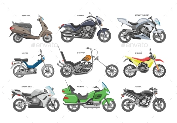 Motorcycle Vectors - Man-made Objects Objects