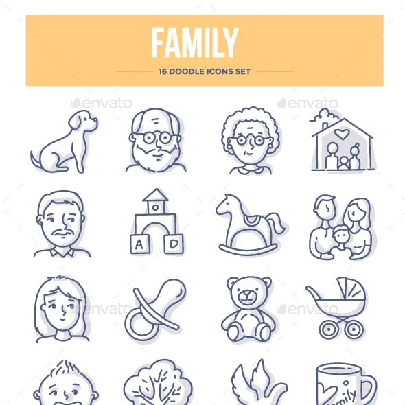 Family Doodle Icons