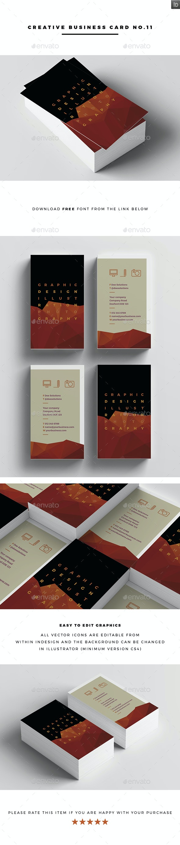 Creative Business Card No.11 - Business Cards Print Templates