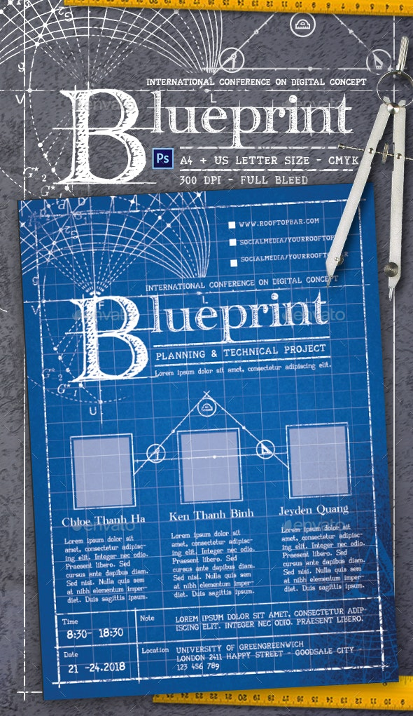 Blueprint Flyer Template - Corporate Flyers