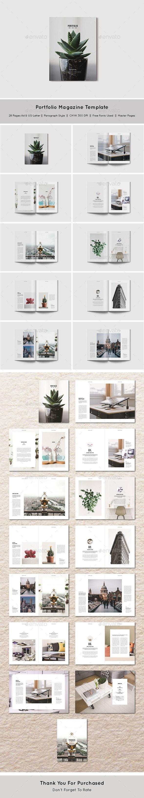 Portfolio Magazine Template - Magazines Print Templates