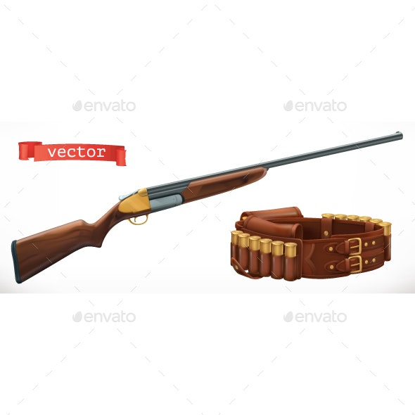 Shotgun and Bandolier - Man-made Objects Objects