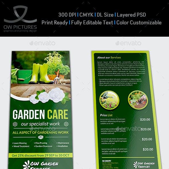 Garden Services Flyer Template DL Size Vol.2