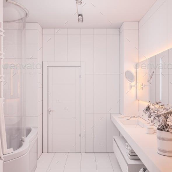 3d Illustration Interior Design of a Modern
