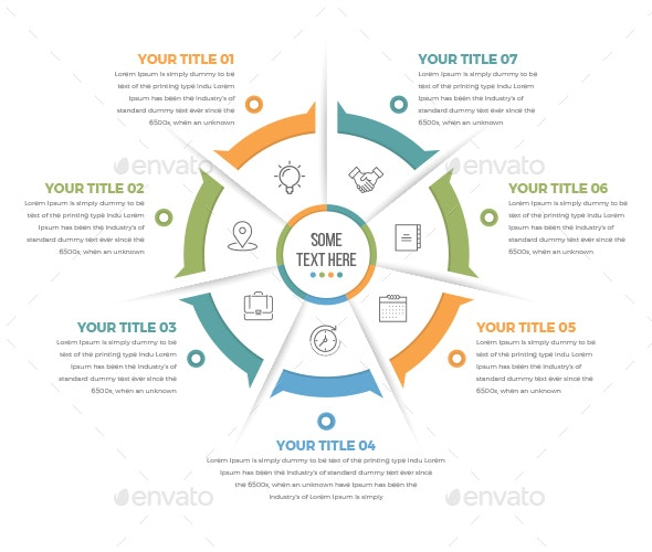 Business Circle Infographics with 07 Steps - Infographics