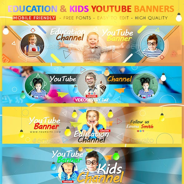 Education & Kids YouTube Banner