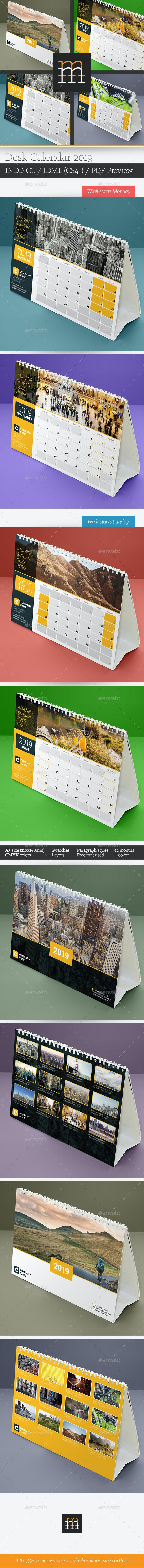 Desk Calendar 2019 - Calendars Stationery