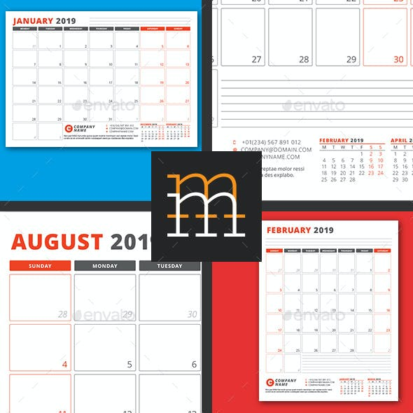 Monthly Planner 2019