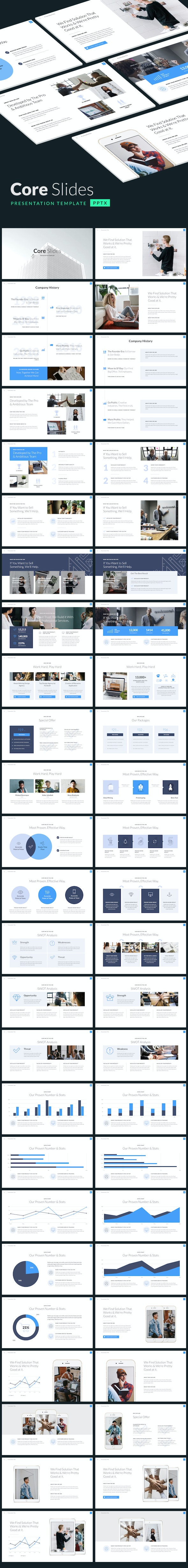 Core Slides - Simple Powerpoint Template - PowerPoint Templates Presentation Templates