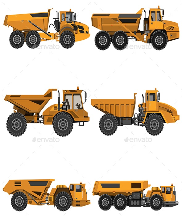 powerful articulated dump truck - Man-made Objects Objects