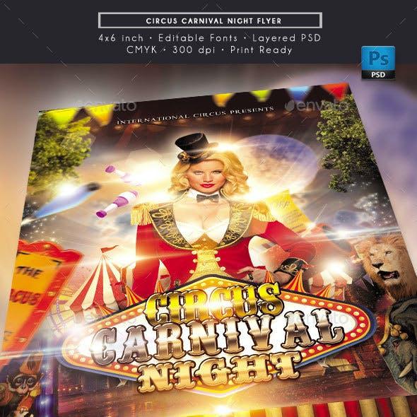 Circus Carnival Night Flyer