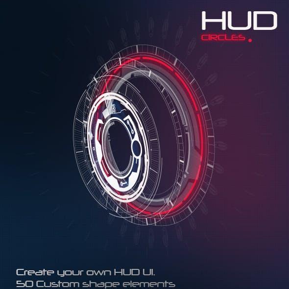 50 Hi-Tech Circle Custom Shapes