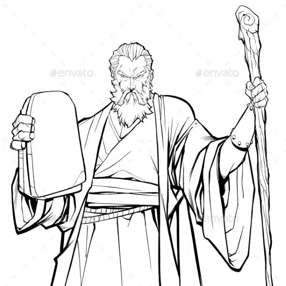 Moses Line Art