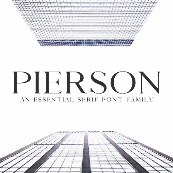 Pierson An Essensial Serif Typeface