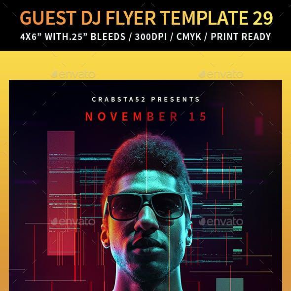 Guest DJ Flyer Template 29