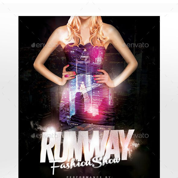 Runway Fashion Show Flyer Template