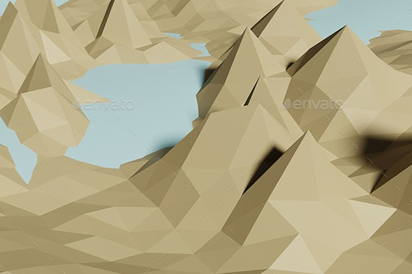 Minimal Low Poly Background - Abstract Backgrounds