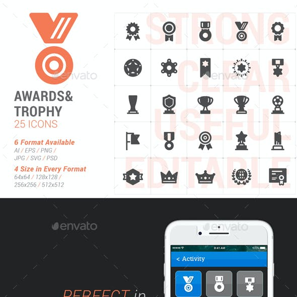 Awards & Trophy Part Filled Icon