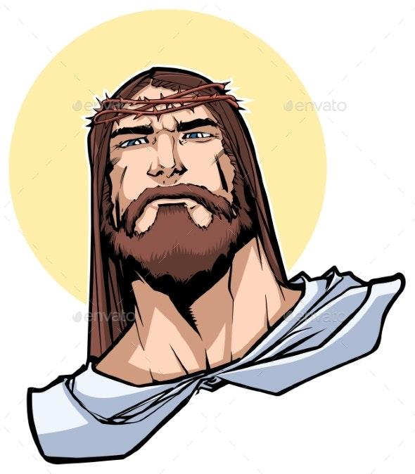 Jesus Portrait Illustration - Religion Conceptual