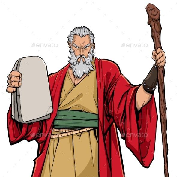 Moses Portrait Illustration