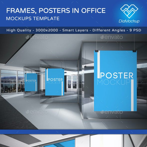 Frames, Posters in Office Mockups