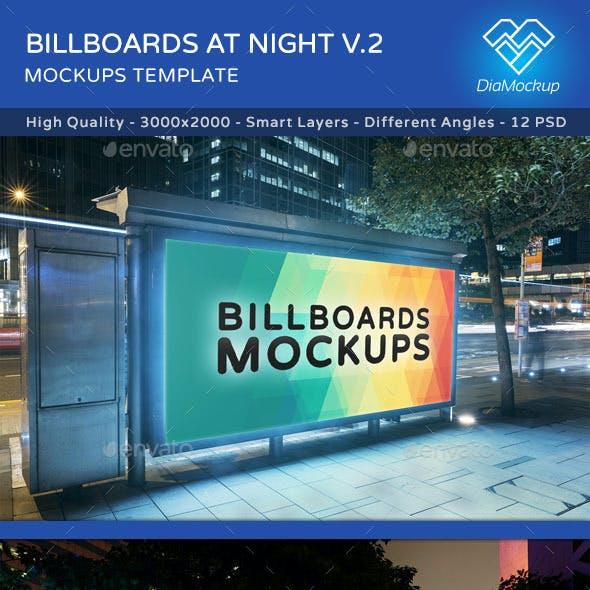 Billboards Mockups at Night Vol.2