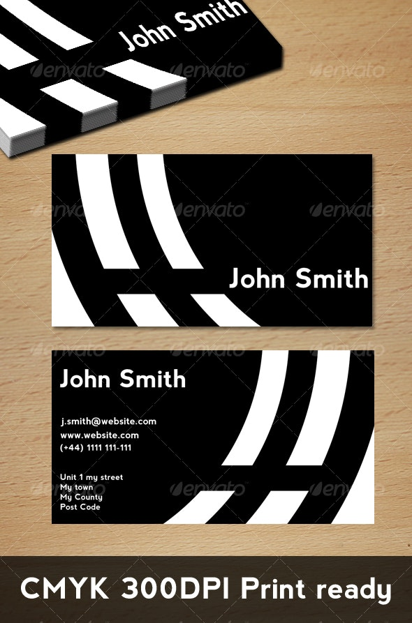 BW Ring Card - Corporate Business Cards